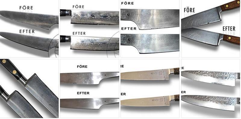 slipa knivar före och efter